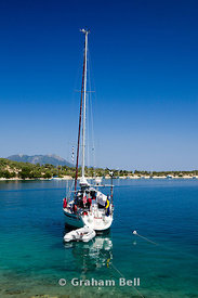 Yacht Atherinos Bay, Meganisi, Lefkas, Ionian Islands, Greece.