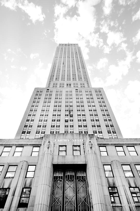 EMPIRE STATE BUILDING MANHATTAN NEW YORK CITY BLACK AND WHITE VERTICAL