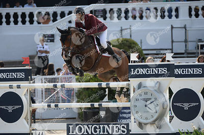Hamad Ali Mohamed AL ATTIYAH ,(QAT), APPAGINO 2 during Longines Cup of the City of Barcelona competition at CSIO5* Barcelona at Real Club de Polo, Barcelona - Spain