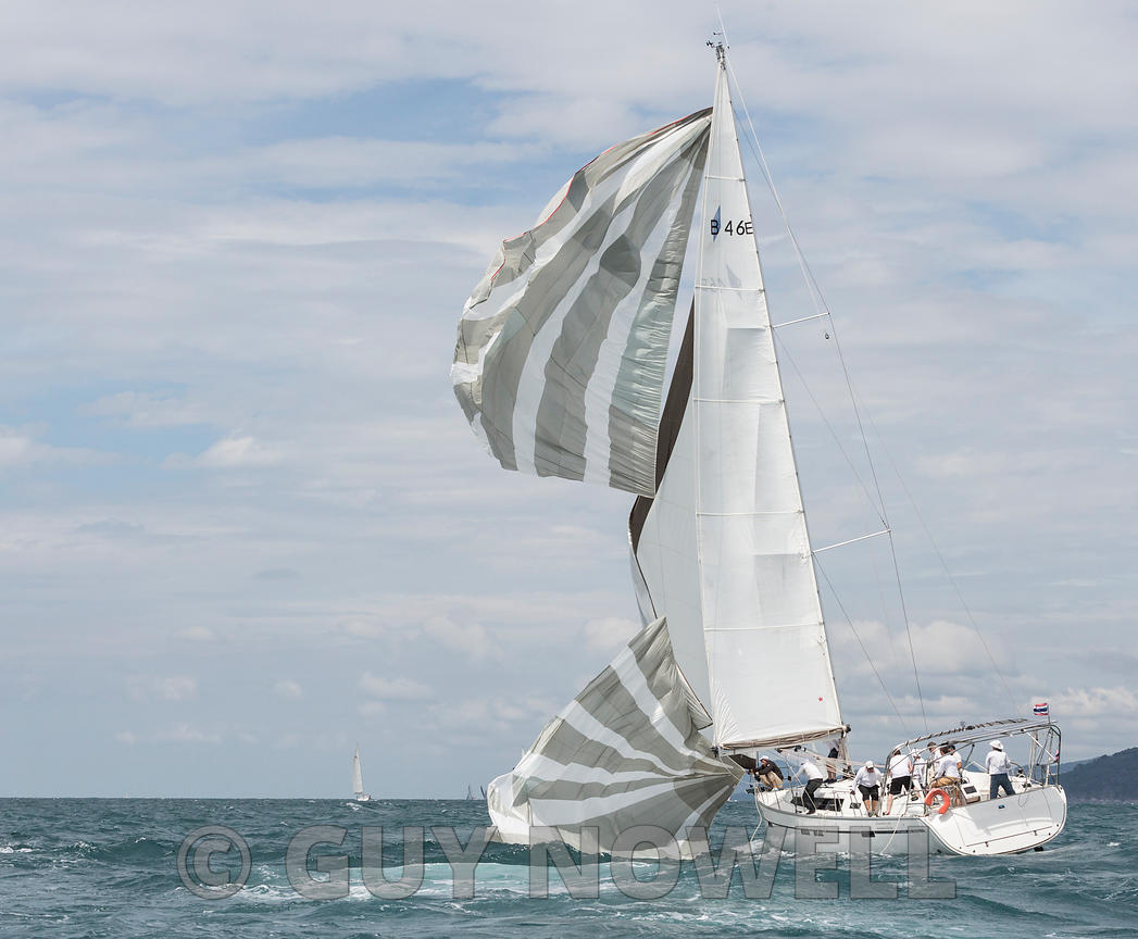 No, Virginia, a spinnaker is not an upwind sail. Phuket King's Cup 2016.