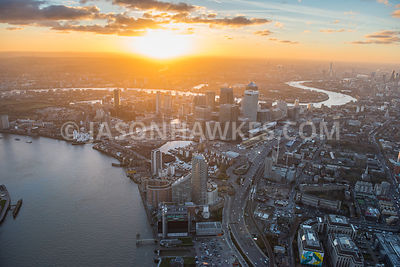 Aerial view of Blackwall Basin, South Dock, Wood Wharf, Canary Wharf, Isle of Dogs, New Providence Wharf, Blackwall, A1261 Aspen Way, London.