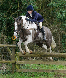 jumping a hunt jump near Knossington Spinney