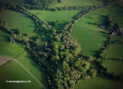 disused railway - Marefield Junction Leicestershire England from the air