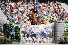 MELAND, Ole Kristoffer, (NOR), CC Top during First round Team competition at Alltech World Equestrian Games at Stade Michel D' Ornano, Caen - France
