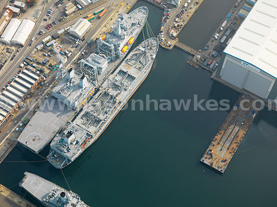 Aerial view of Portsmouth Harbour