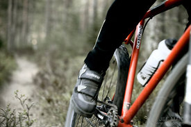 Mountain bike and leg