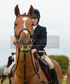 Roxanne Daley at the meet - The Cottesmore Hunt at Toft 27/10