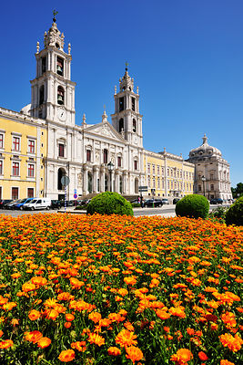 Mafra convent, near Lisbon, the location of the famous book of the Nobel prize writer Jose Saramago. Portugal