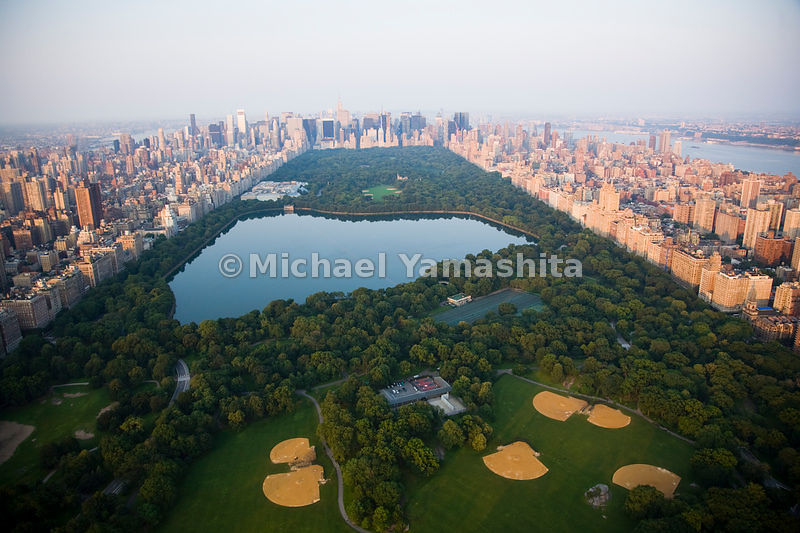 An aerial view of Central Park in Manhattan, New York City.