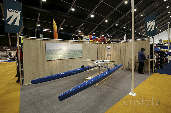 ROCAT had its own stand at the 2004 London Boat Show - the prototype on display was a lashup and we were erecting the stand when the show opened having driven through the night to be there
