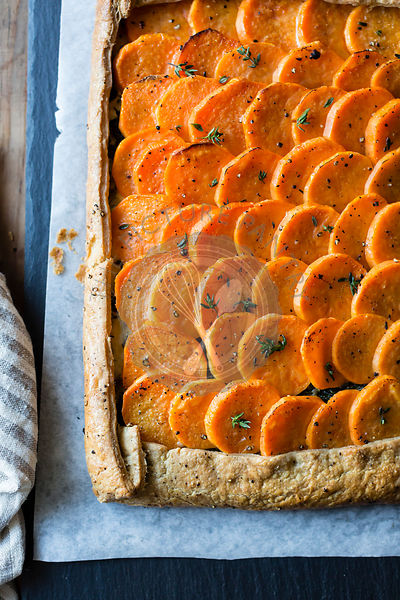 Sweet potato galette