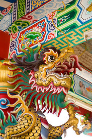 Chinese dragon head at a temple