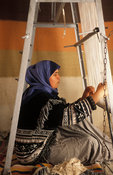 traditional carpet weaving, Houmt Souq, Jerba, Tunisia