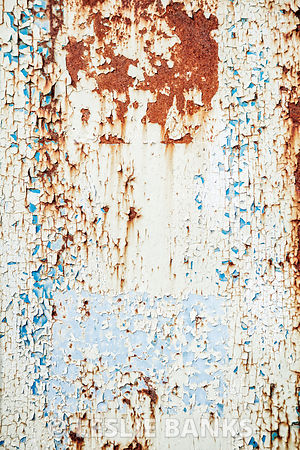 Vintage Peeling Paint on Metal Background