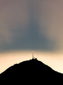 Puy de Dôme at sunset, Auvergne
