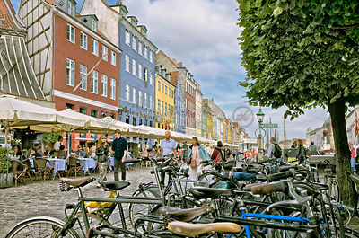 Pedestrians at Nyhavn