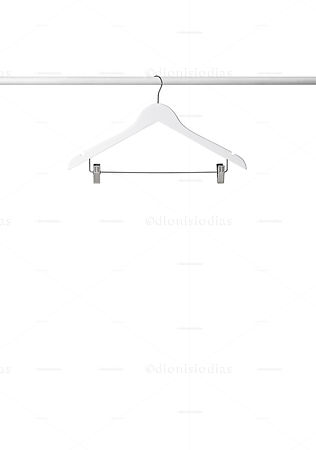 Isolated white Hanger