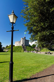Norman Keep, Cardiff Castle, Cardiff, Glamorgan, Wales, UK.