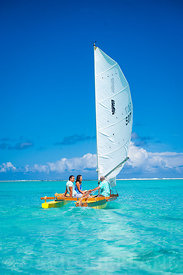 Sailing on Muri Lagoon, Rarotonga, Cook Islands