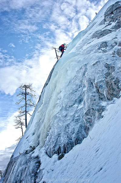 Ice Climbing at Pearly Gates