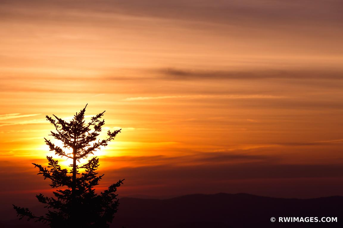 SUNRISE CLINGMANS DOME SMOKY MOUNTAINS COLOR