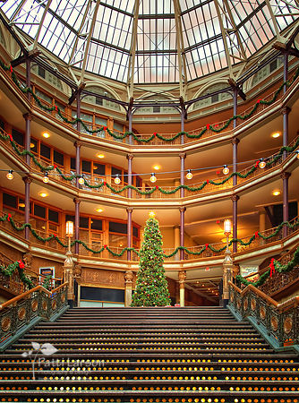 Christmas Tree at Cleveland Arcade