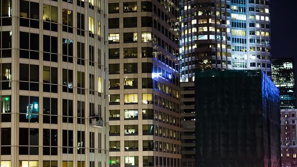 Close Up: The Precarious Job Of A High-Rise Window Washer (Night)