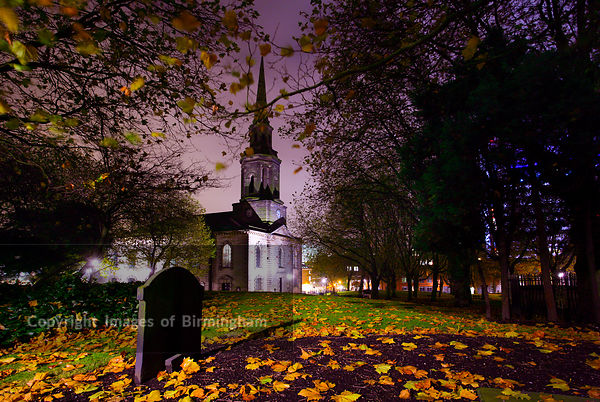 St Pauls Church in the Jewellery Quarter (St. Paul's Square). Birmingham, England.