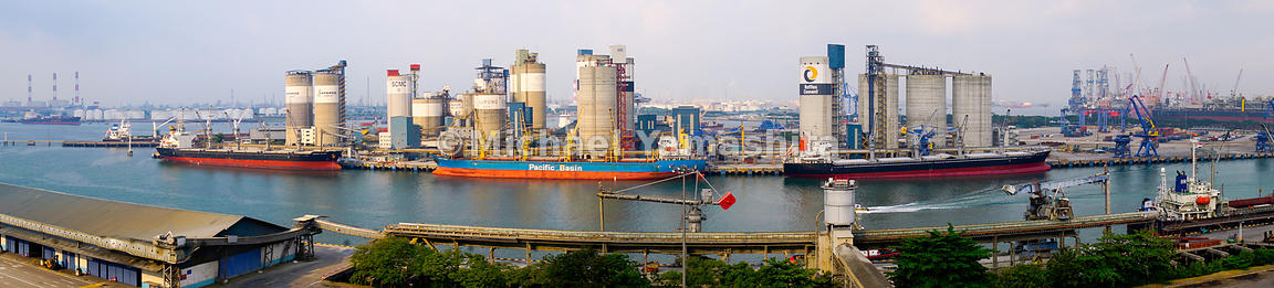 Jurong Port is home to the world's largest common user cement terminal in the world. Spanning a total of 19 silos over 5 hectares of land, close to 6.4 million tonnes of cement pass through Jurong Port annually.