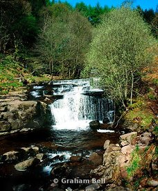 waterfall river caerfanell blaen y glyn brecon beacons national park powys wales