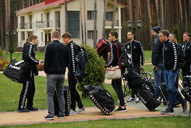 Team PPD Zagreb during the Final Tournament - Final Four - SEHA - Gazprom league, Team arrival in Brest, Belarus, 06.04.2017, Mandatory Credit ©SEHA/ Stanko Gruden