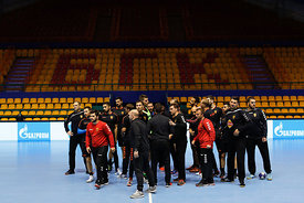 Team Vardar during the Final Tournament - Final Four - SEHA - Gazprom league, Team training in Brest, Belarus, 06.04.2017, Mandatory Credit ©SEHA/ Stanko Gruden