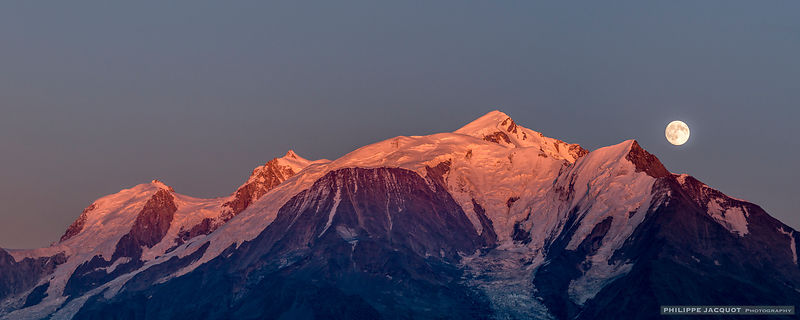 Rise of the Full Moon over the Mont-Blanc – Cordon