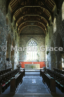 The Abbey Church, Iona Abbey, Iona, Inner Hebrides, Scotland