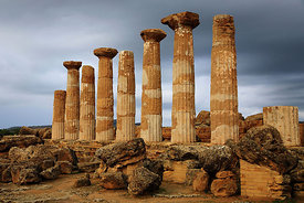Temple of Hercules, Agrigento, Sicily, Italy.