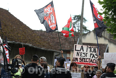 Demo against bullfight in France photos, pictures, picture, agency