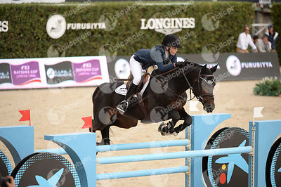 Athina ONASSIS-DE MIRANDA ,(GRE), AD CINSEY during Caixa Bank Trophy competition at CSIO5* Barcelona at Real Club de Polo, Barcelona - Spain