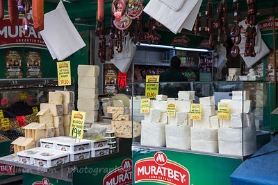 Feta cheese for sale in the spice market, Istanbul