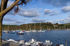 View of Kingswear from Dartmouth, Devon, England.