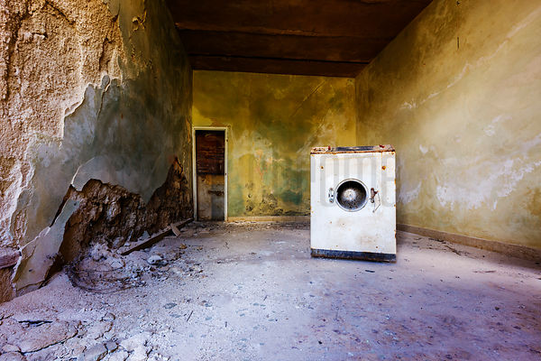 Washing Machine in Abandoned Home