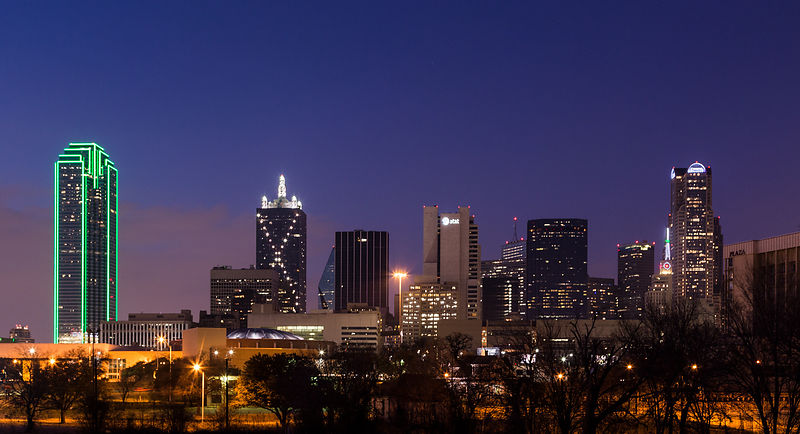 Dallas Skyline from Southside.