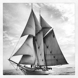 Mary Day Schooner sailing