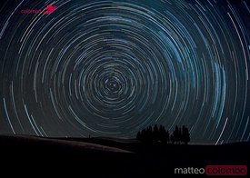 Star trails over Tuscany, Italy