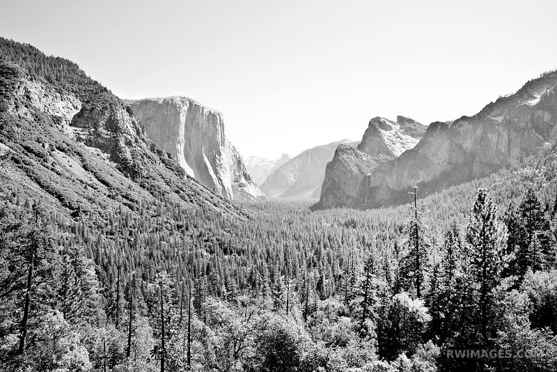 TUNNEL VIEW YOSEMITE NATIONAL PARK BLACK AND WHITE