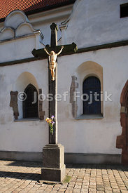 Crucifiction at the Deanery Church of the Virgin Mary Birth, Pisek, Czech Republic