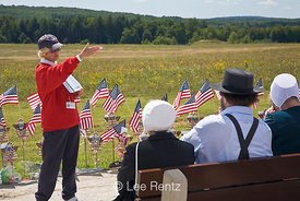 Volunteer Explaining Flight 93 Crash Site to Visitors