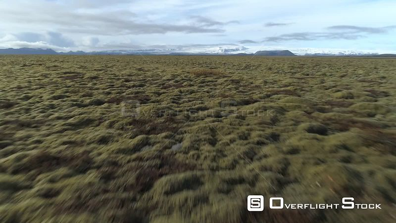 Over Endless Fields of Moss, Icelandic Tundra Under Vatnajokull Glacier