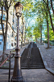 Paris, Montmartre, escaliers de la butte