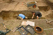 Archaeological excavation of Iron-Age site