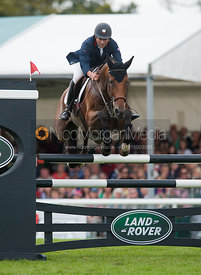 Jean Teulere and Matelot Du Grand Val - show jumping phase,  Land Rover Burghley Horse Trials, 2nd September 2012.